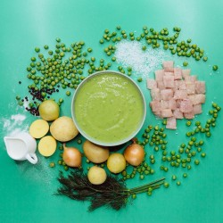 Суп із зеленого горошку з курячим філе. Філе куряче варено-сушене (12%) фото 4
