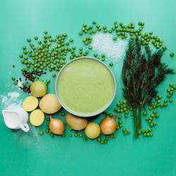 Суп із зеленого горошку. Зелений горошок варено-сушений (53%) фото 4